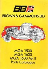 MG Car Parts Catalogues