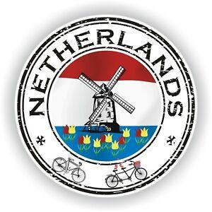 Seal Sticker of Netherlands Stamp Bumper Roundel Truck Laptop Car