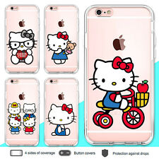 iPhone 8 7 6 Plus X Case Hello Kitty Clear Bumper Print Cover for Apple SE 5 5s