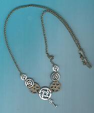Männer   Damen Unisex Halskette gothic steampunk Zahnräder Neu