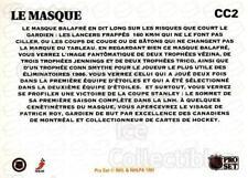 1991-92 Pro Set CC French #2 Patrick Roy, Mask