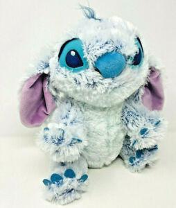 Disney Store Lilo Stitch Fuzzy Fluffy Furry Ice Stitch Plush Toy Light Blue