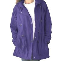 Women Prince Purple Lined Coat Jacket Sizes Med, L, 1x, 3x, 5x, 6x
