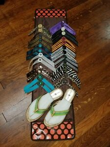 Sandals with 14 interchangeable straps Size 7