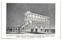 IBM Exhibit 1933 Chicago World's Fair Postcard