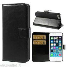 CUSTODIA LUXURY LIBRO PORTAFOGLI FLIP COVER PER APPLE IPHONE 5 e 5S