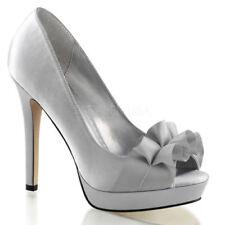 Zapatos de tacón de mujer Pleaser color principal plata