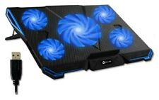 KLIM Cyclone Laptop Cooling Pad5 Fans CoolerNo More Overheating (BLUE)