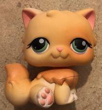 Littlest Pet Shop Persian Kitty Cat Orange/Long Hair Gren Eyes Lps