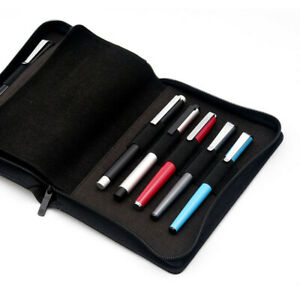 KACO Fountain Pen Pouch Pen Case Bag Business Style for 10 Pen Black Waterproof