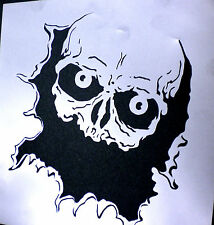 high detail airbrush stencil peeping skull  through hole FREE UK POSTAGE