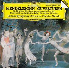 MENDELSSOHN : OUVERTÜREN / LSO - CLAUDIO ABBADO / CD
