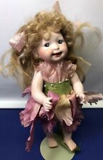 "9.5"" Googlie Fairy By Corrine Artist Made Doll Bisque With Hand Painted Eyes"
