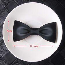 Effetto in tessuto nero in legno Papillon magnetici sul retro moda alternativa venditore del Regno Unito