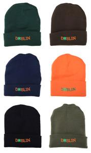 St Patrick's Day Wool Hat, Four Leaf Clover Wool Beanie Hat - Dublin