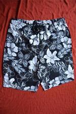BEME Floral Print SIZE 16 SURF BOARDSHORTS New B & W FLORAL Print RRP$49.99