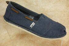 TOMS Classic Blue Perforated Canvas Boat Ballet Flats Slip On Shoes Womens 7.5
