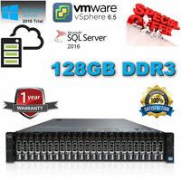 Dell PowerEdge R720XD 2x E5-2690 2.90Ghz 16-Core 128GB RAM 24x 300GB 10K H710P