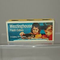 Vintage Westinghouse Flash Cubes (3 Cubes/12 Flashes) For Photography