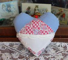 Antique Quilt Heart Pillow, lavender sachet Valentine d