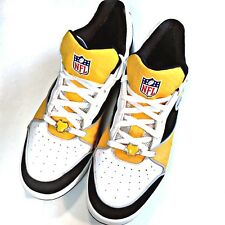 Pittsburgh Steelers Reebok NFL Mens Athletic Shoes Sz 13 Gold Black White Bling