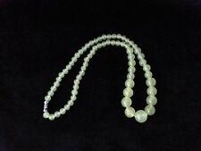 """6-14mm Natural Prehnite Round Beads Gemstone Necklace 17"""""""