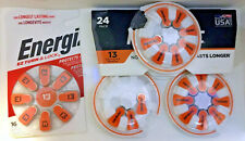 26 Hearing Aid batteries 1.4v Energizer & Rayovac Size 13 Unexpired