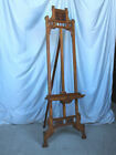 Antique Large Victorian Oak Gallery Easel - Adjustable - Extra Fancy Style