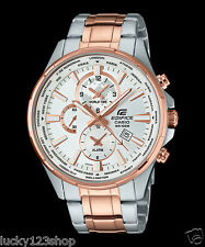 EFR-304SG-7A Rose Gold White Casio Edifice Men's Watch Steel Band Analog New100m