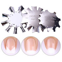 French Tips Smile Line Metal Cutter Edge Trimmer Nail Template DIY Nail Art