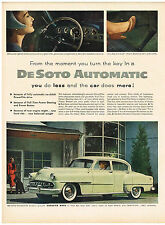 Vintage 1953 Magazine Ad DeSoto PowerFlite Drive Eliminates Clutch & Gearshift