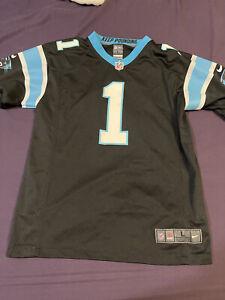 Carolina Panthers Cam Newton Football Jersey #1 Nike On Field Youth Large Black