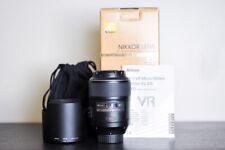 Nikon AF-S 105mm 2.8G VR Micro / Macro FX Lens - US Model!