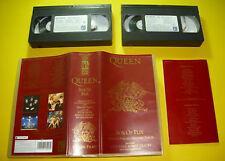 """2 VHS """" QUEEN - BOX OF FLIX """"  34 GREATEST / BEST OF / 160 MIN. (KILLER QUEEN)"""