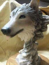 Vintage wolf sculpture figure #4103 Before The Chase Mill Creek Studios
