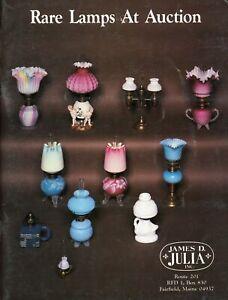 Art Glass Lamps - Miniature Whale Oil Finger Stem Art Glass Etc./ Book + Values
