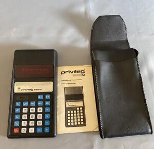 PRIVILEG 865M Taschenrechner Beschreibung Hülle #4000