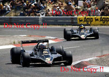 Mario Andretti & Ronnie Peterson JPS Lotus 79 French Grand Prix 1978 Photograph