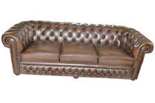 Chesterfield Ledersofa Sofagarnitur Sitz Polster Couch Garnitur 3 2 1 Birmingham
