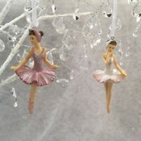 Pink Or White Ballerina Decoration In Tutu Ballet Christmas Tree Gisela Graham