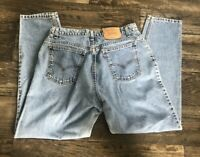 VTG Orange Tag LEVIS 950 Relaxed Fit Tapered Leg Super High Waist Womens 34 x 30