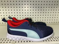 Puma Carson 2 Boys Youth Athletic Shoes Size 4C Blue Red