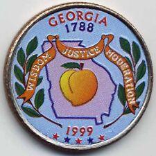 1999 GEORGIA COLORIZED STATE QUARTERS (P, D)