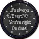 "Beer:30 Chalkboard Wall Clock Pub Mug Brew Ale Liquor Alcohol New 10"""