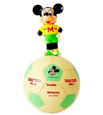 Vtg Walt Disney Productions Mickey Mouse Soccer Roly Poly Toy Wobbling Chiming
