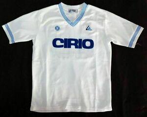 NAPOLI 1984 AWAY WHITE RETRO SHIRT CIRIO, DIEGO MARADONA, Size S M L