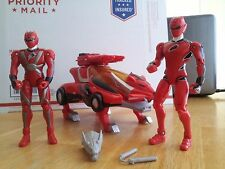 Power Rangers Toys Jungle Fury Morphing Vehicle + 2 Red Figures, Shock Sound