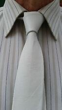 VIKTOR SABO Handmade WHITELeather Tie 1.5 inch / 3.8 cm