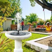 Outdoor Solar Powered Floating Bird Bath Water Fountain Pump Garden Pond  Pool .