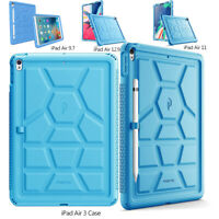 For iPad Air 3 / Pro 9.7 [Shockproof] w/Drop Protection Silicone Case Cover Blue